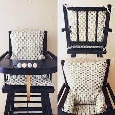 assise chaise haute coussin de chaise haute motif gouttes toile enduite coussin