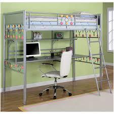 bedroom bunk bed with desk and futon underneath gami largo loft