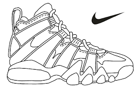 Nike Air Max Printable Coloring Pages