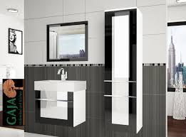 badezimmermöbel set eleganza 2 schwarz weiß