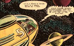 Space War Vintage Comic Wallpaper