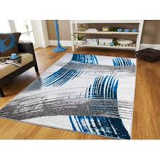 Dining Room Rugs For Under The Table 8x10 Gray Blue Black Area On Clearance 8x11