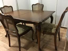 esszimmer chippendale 4 stühle esstisch tisch antik beige barock