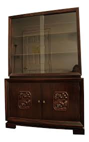 Curved Glass Curio Cabinet Antique by Vintage U0026 Used Asian China And Display Cabinets Chairish