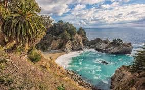 Nature Landscape Mc Way Falls California Beach Sea Clouds