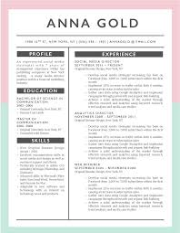 Anna Gold - 5-15 Best Creative Resume Templates Of 2018 ... 50 Spiring Resume Designs To Learn From Learn Best Resume Templates For 2018 Design Graphic What Your Should Look Like In Money Cashier Sample Monstercom 9 Formats Of 2019 Livecareer Student 15 The Free Creative Skillcrush Format New Format Work Stuff Options For Download Now Template