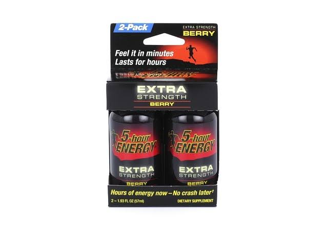 5-Hour Energy Extra Strength Berry Drinks - 2 x 1.93 oz Pack