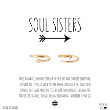 Soul Sisters Arrow Rings Valentines Gift For BFF Sister Friend