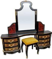casa padrino luxus barock boulle schlafzimmer set schwarz rot gold 1 schminkkommode mit spiegel 1 hocker prunkvolle schlafzimmer möbel im