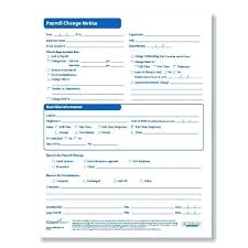 Payroll Change Form Template Notice