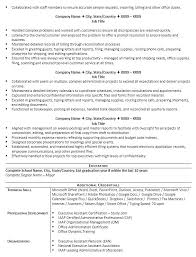 Administrative Assistant Resume Summary Examples Sample Skills Executive Resumes Example