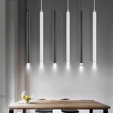 Led Pendant Lamp Long Tube Light Kitchen Island Dining Room Shop Bar Counter Decoration Cylinder Pipe