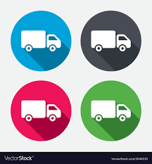 100 Truck Sign Delivery Truck Sign Icon Cargo Van Symbol Vector Image