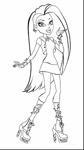 Good Monster High Coloring Pages With And Truck