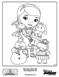 Doc Mcstuffins Coloring Pages Free Printable Colouring Page