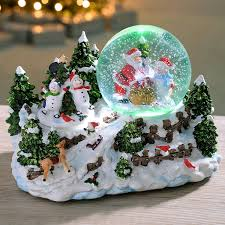 Frosty Snowman Christmas Tree by Werchristmas Santa And Snowman Snowing Scene With Snow Globe