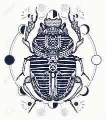 Egyptian Scarab Symbol Of Pharaoh Gods Ra Sun Tattoo Ancient