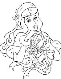Disney Princess Christmas Coloring Page