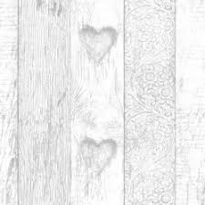 Fresco Plank Love Heart Wallpaper