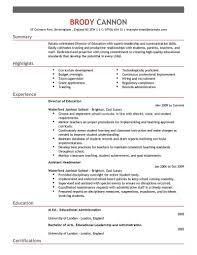 Teacher Resume Examples Fancy Design Example 16 2016 For