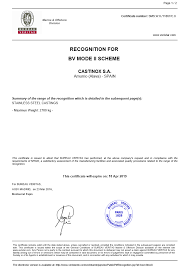 fluido bureau veritas fundiciones castinox s international quality certificates castinox