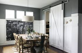 Modern Barn Door Dining Room