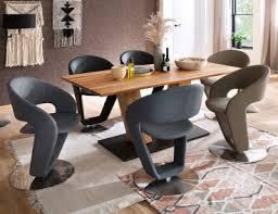 mca furniture polsterstuhl firona mit tellerfuß und 360 grad drehbar bezug aus kunstleder farbe anthrazit