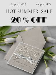 Rustic Lace Wedding Invitations 20 Pocket Fold Country Invitation Grey Invites