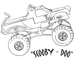 Monster Jam Scooby Doo Truck Coloring Pages