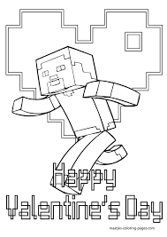 More Minecraft Valentines Day Coloring Pages On Maatjes