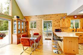 An Irregularly Shaped Kitchen Ceiling Made This Area Look Spacious