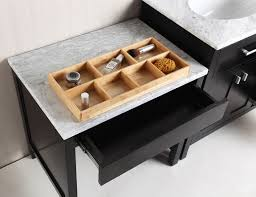 36 london single sink vanity set in espresso with one make up