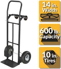 Black 2 In 1 Convertible Heavy Duty Steel Hand Truck Dolly Trolley ... Harper Quick Change 900 Lbs Capacity 4in1 Convertible Hand Truck Krane Amg500 Truckplatform Cart Bh Dayton Dual Grip Overall Height 50 Wesco 272997 Steel 241 Pneumatic Wheels Sydney Trolleys Folding Milwaukee 2way Cosco 3in1 81000lb Cap 2106w X 2185d Alinum Manufacturer Mighty Lift Magliner 1000lb Silver At Gemini Sr Gma81uaf Photo Tamarack Industries Painless