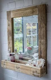 spiegel für das bad mit rahmen palleten deko ideen möbel