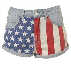 Topshop American Flag Shorts 2