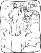 Related Coloring Pages Temptation Of Jesus