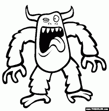 Book Coloring Monster Pages For Kids With Monsters Online