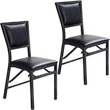 amazon com cosco 2 pack wood folding chair with vinyl seat and x