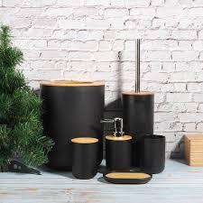 details zu 6tlg badezimmer accessoires set seifenspender bürste badgarnitur zahnputzbecher