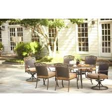Martha Stewart Patio Sets Canada by Martha Stewart Living Miramar Ii 7 Piece Patio Dining Set With Tan