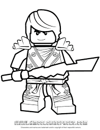 Lego Ninjago Coloring Pictures With Elemental Blade Page 2015 Colouring Pages