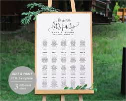 wedding seating chart template 16 examples in pdf word psd