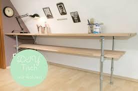 aus rohren möbel bauen tisch mit rohren diy anleitung