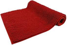 wohndirect badematte rot badezimmerteppich zum set kombinierbar rutschfest waschbar badvorleger wc garnitur badteppich 50x80cm