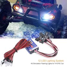 12 LED Lights System Kit Simulation Flash For 1/10 1/8 RC Car Truck ... Superman Rc Body Light Up Sc Truck Bodies 68 Camaro Custom 12v Kids Ride On Truck Car Suv Mp3 Remote Control W Led Lights Car Blking Light Effects Monster Vs Police Kc Hilites Gravity Pro6 Modular Expandable And Adjustable Trophy With Lights Light Bar Archives My Trick Myktd1 Mytrick Attack Kit For Traxxas Trx4 Fender Led Strip For Cars Interesting Interior Strips Bestchoiceproducts Best Choice Products Tamiya F350 High Lift Painted Body Roll Bar Bumper Buckets Dragon System For Short Course Trucks Pkg 2 Diy Controller Youtube