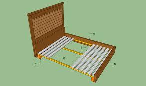 king bed frame plans bed plans diy u0026 blueprints