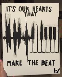 Twenty One Pilots Canvas Painting Quote