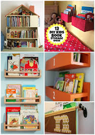 A DIY Wall Book Display With Baskets 12 More Kids Storage Ideas