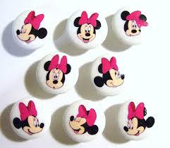 Pink Vintage Dresser Knobs by 8 Minnie Mouse Sparkle Pink Girls Kids Dresser Drawer Knobs