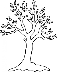 Coloring Pages Leafless Tree Outline Coloring Pages Leafless